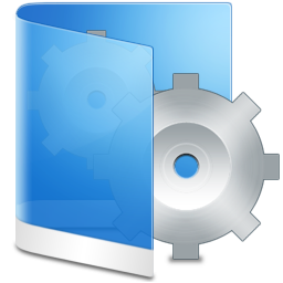 System Folder Blue Icon image #37912