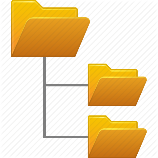 System Folder Tree Yellow Icon image #37904