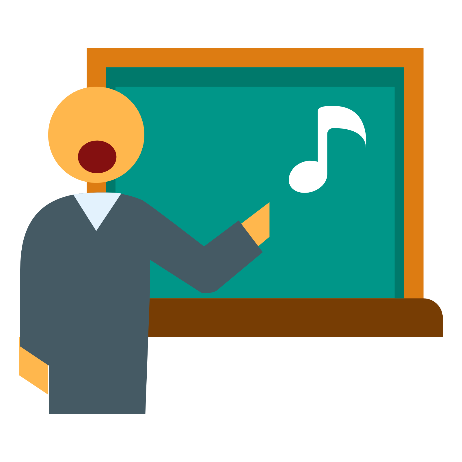 Teacher in Music Lesson Png Clipart