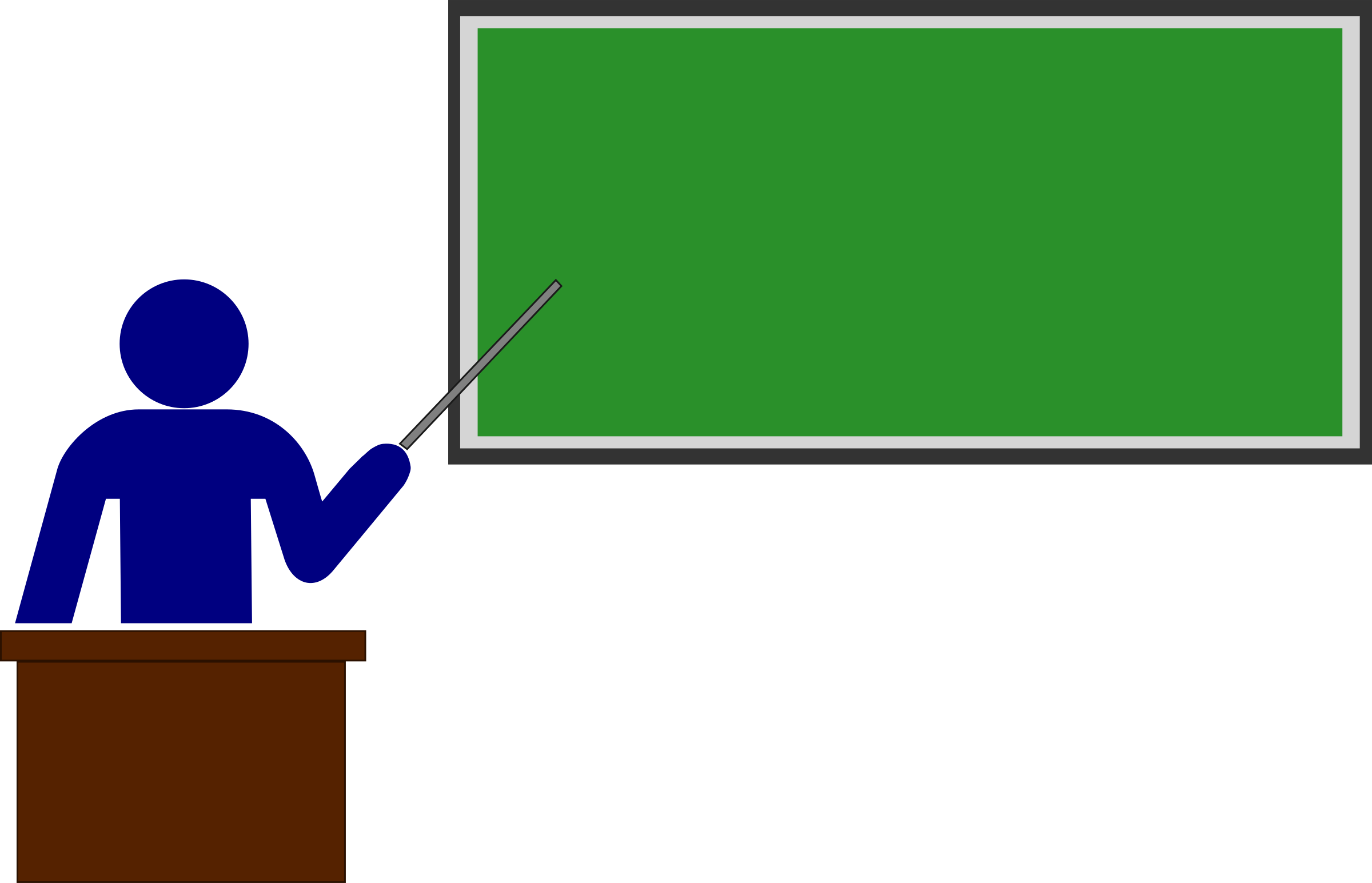 Teacher with Blackboard PNG Clipart