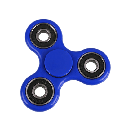 The Blue Plastic Ball Stress Fidget Spinner Wheel Photo