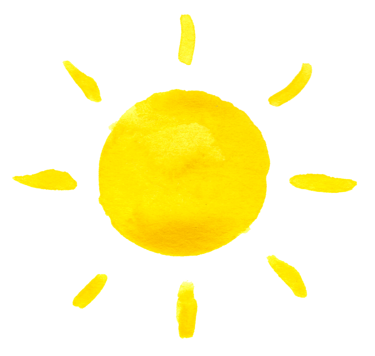 The Image Of The Radiant Sun Yellow