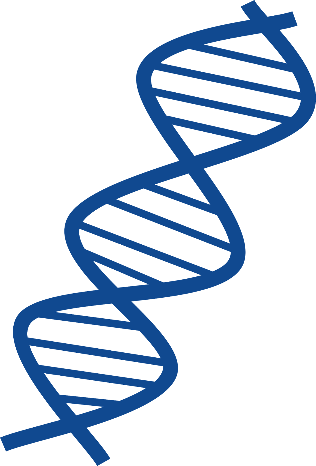 Thin and Blue Dna Transparent Image