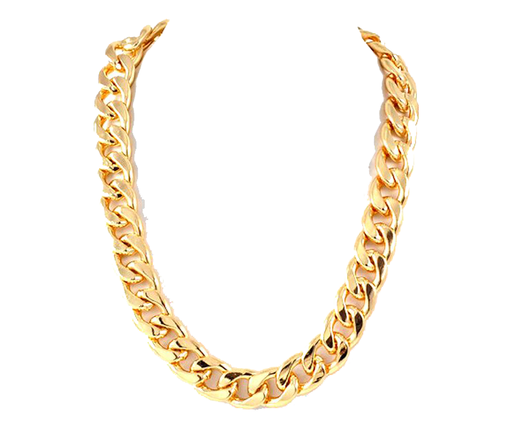Thug Life Gold Chain PNG