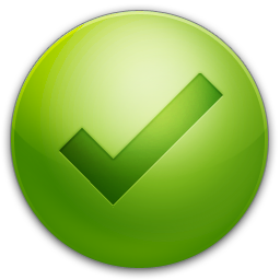 Icon Check Tick Vector image #14153