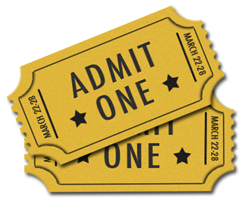 Ticket Admit One PNG Transparent Image