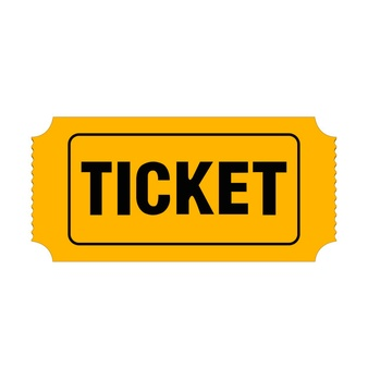Ticket free PNG, ticket yellow image