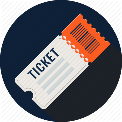 Ticket PNG Clipart in circle design