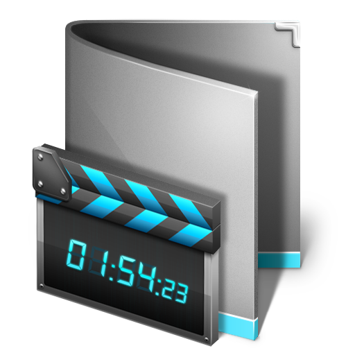 Time Display and Movies Folder Icon Pictures