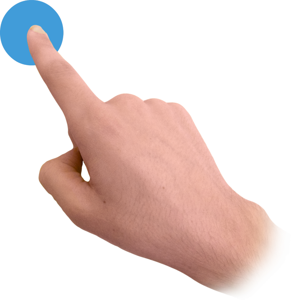 Touch Finger Image Png image #43086
