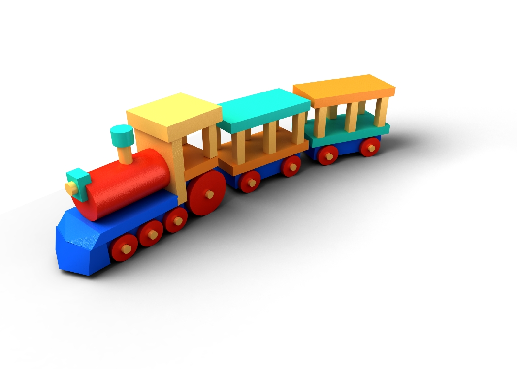 Toy Train Png Clipart image #31590