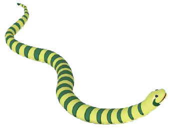 Transparent Background With The Photo Of The Green Anaconda Toy In Yellow image #48150