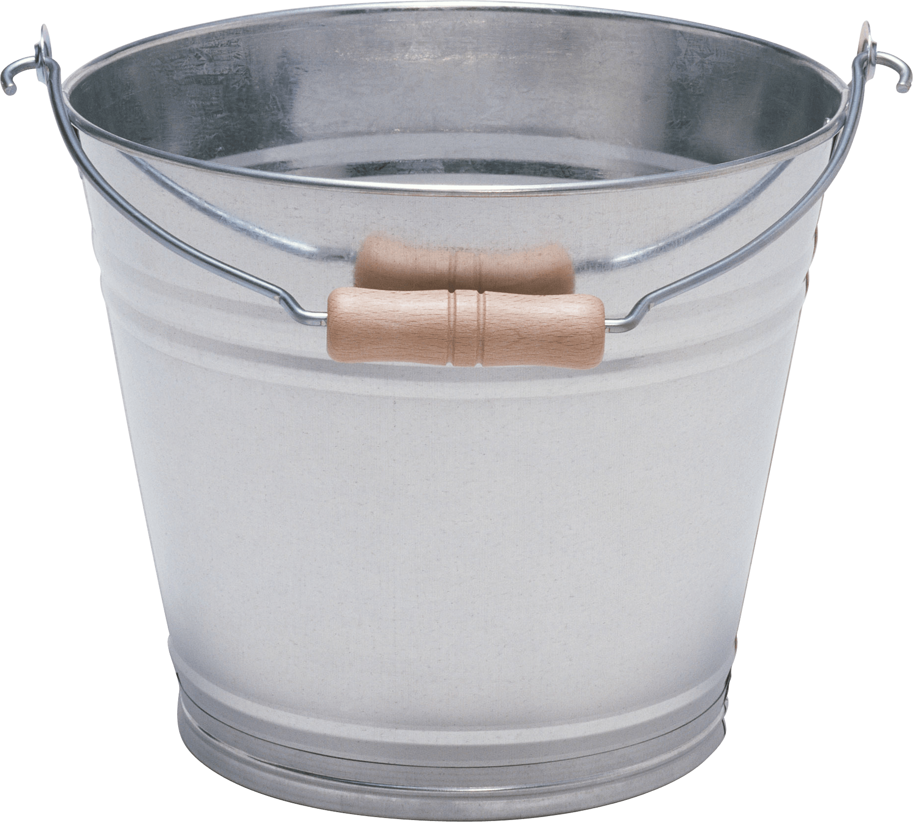 Transparent Silver with wood bucket