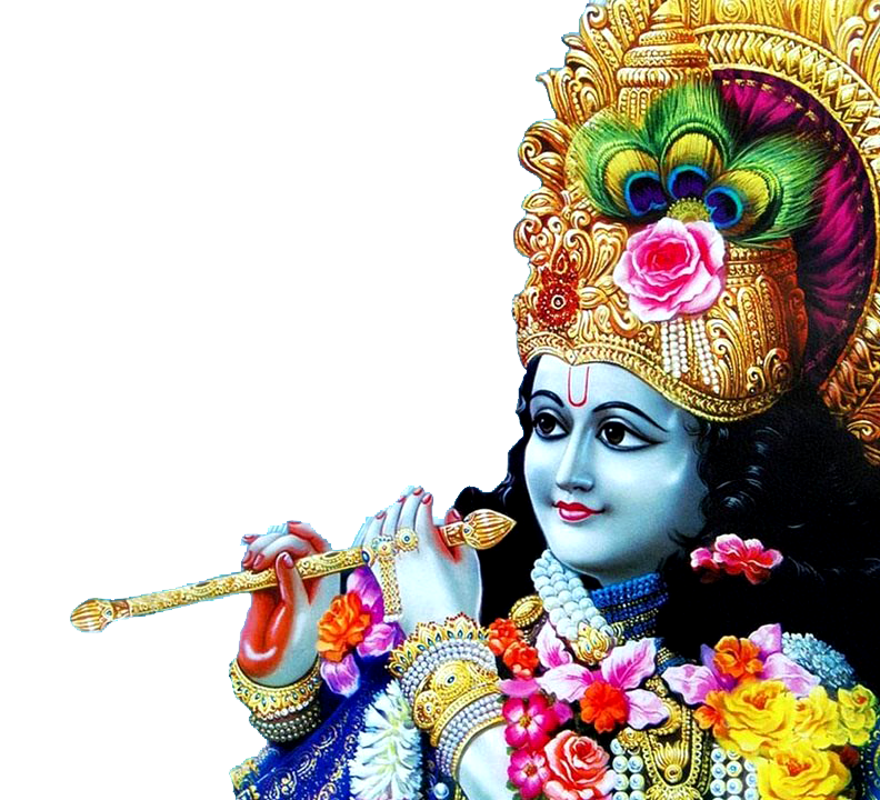 transparent sri krishna with flute