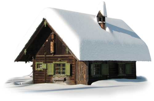 Transparent Winter House With Snow PNG image #31438