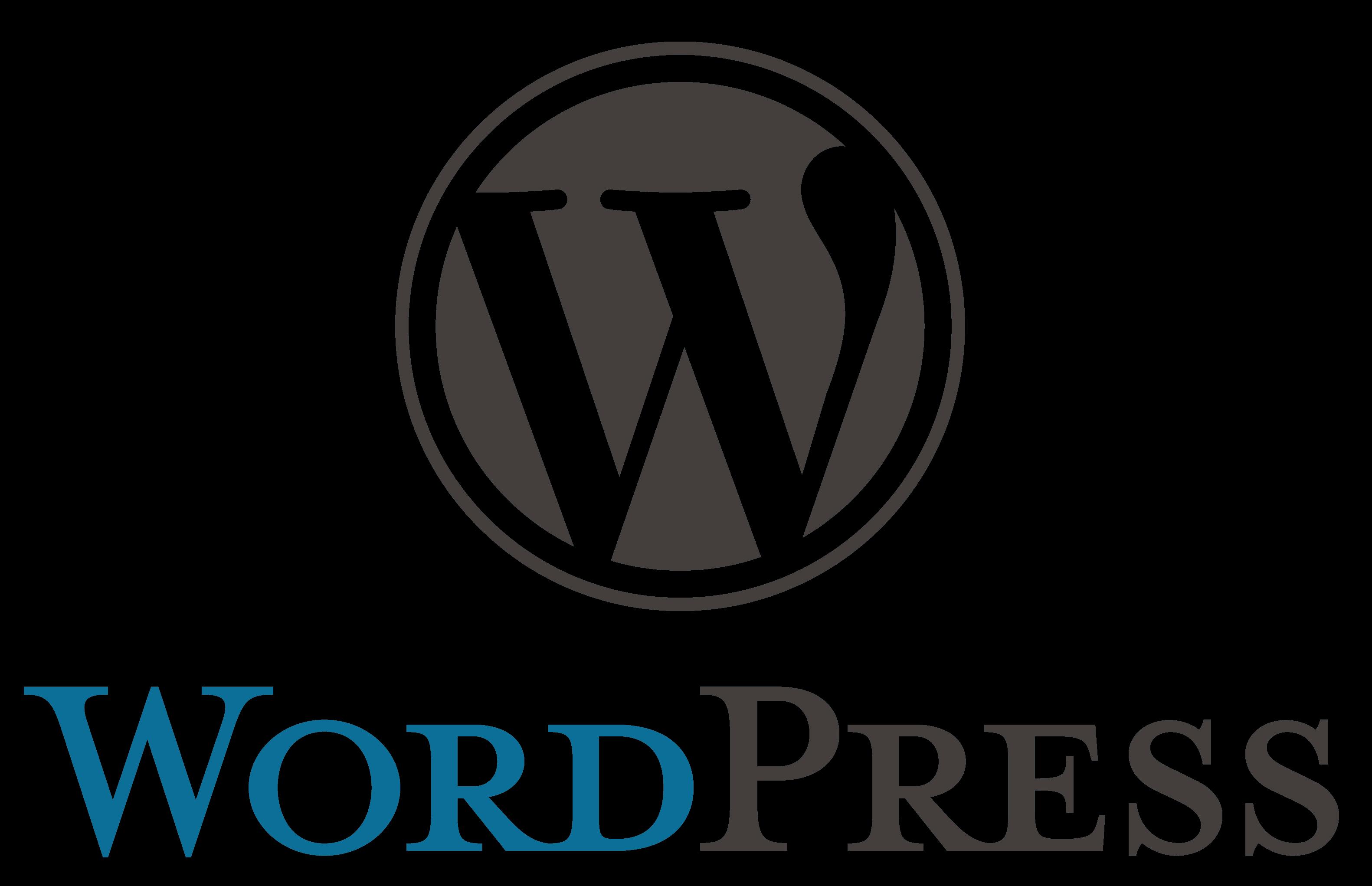transparent wordpress logo clipart