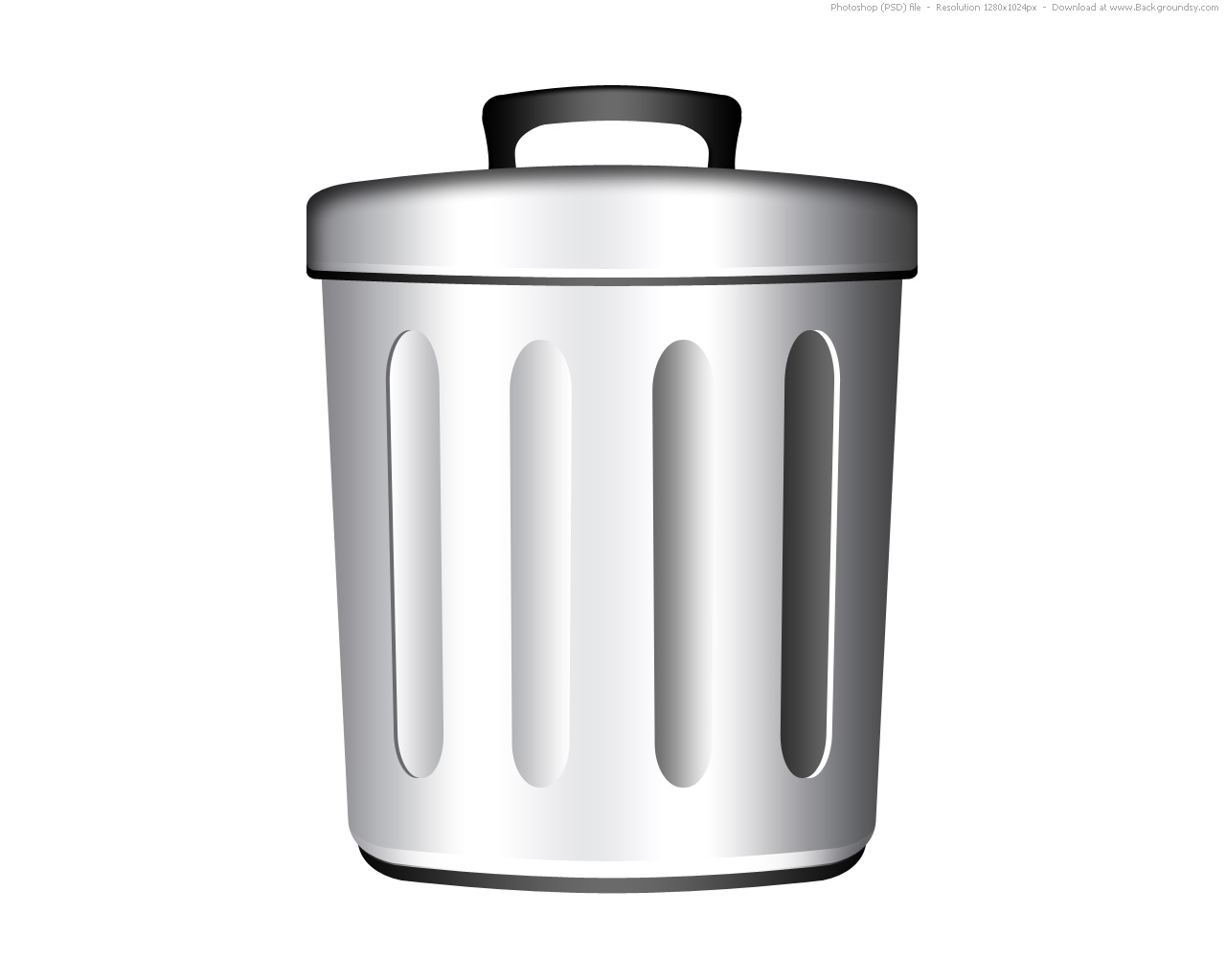Trash Can Icons Set Simple Style
