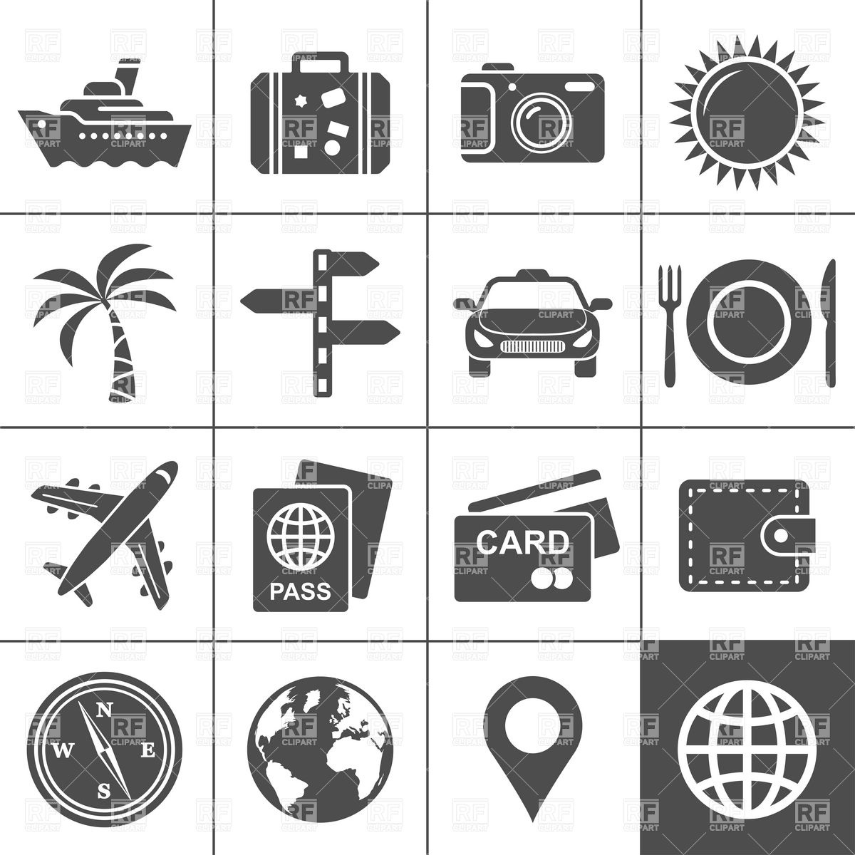 Travel and tourism icon set, 5949, Travel, download Royalty free