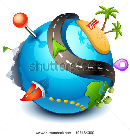 Travel icon  stock vector