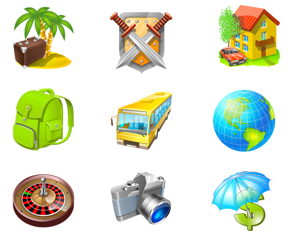 Travel Icon Set » Iconspackm