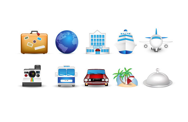 Travel Icons  Vandelay Design