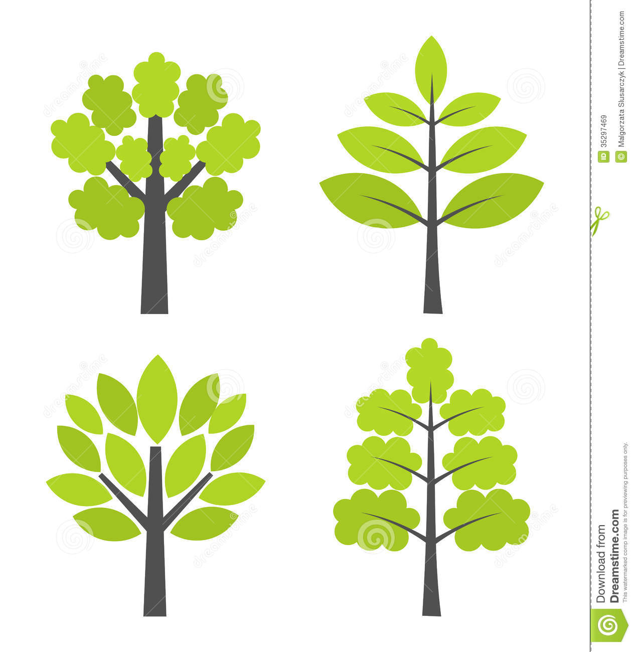 Trees Icons Royalty Free Stock Images   Image: 35297469 image #1535