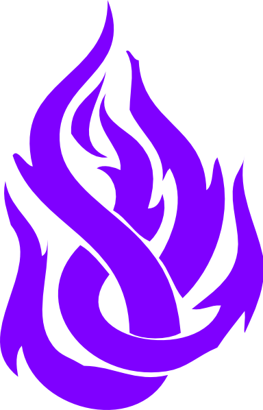 Tribal Fire Blue Purple image #2458