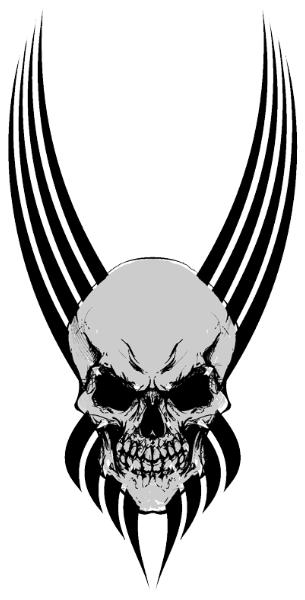 Transparent Png Background Tribal Skull Tattoos Hd