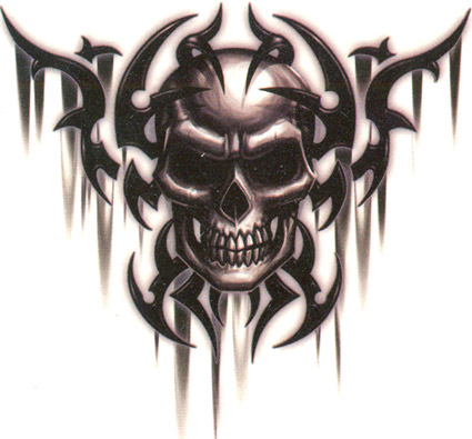 Tribal Skull Tattoos Vector Free Png Download