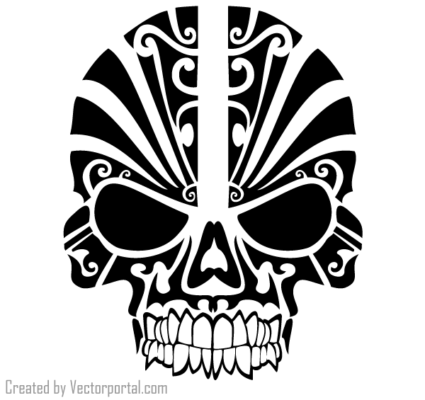 Picture Tribal Skull Tattoos PNG image #30748