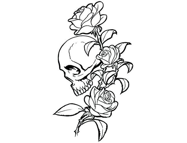 Tribal Skull Tattoos Png image #30752