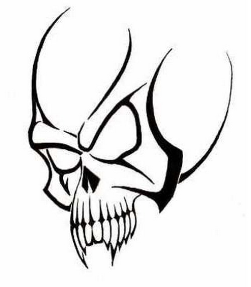 Tribal Skull Tattoos Free Vector Png Download