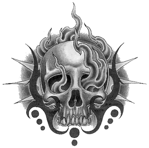 Hd Wallpapers 3d Art Tattoo Design: Tribal Skull Tattoos Png Hd #30734