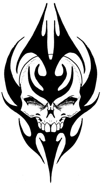 tribal skull tattoos png picture