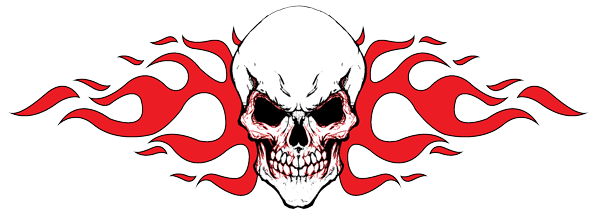 Tribal Skull Tattoos Red Png image #30731