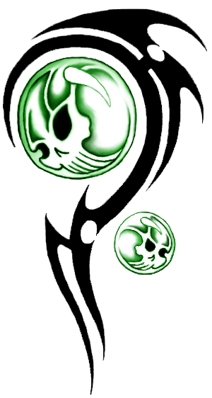 Tribal Skull Tattoos Transparent Png image #30726