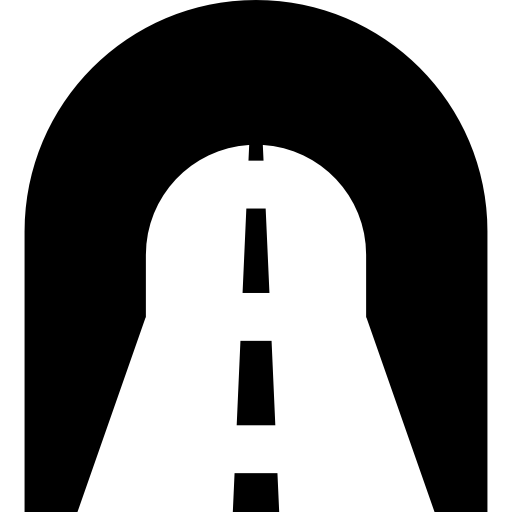 tunnel filled icon