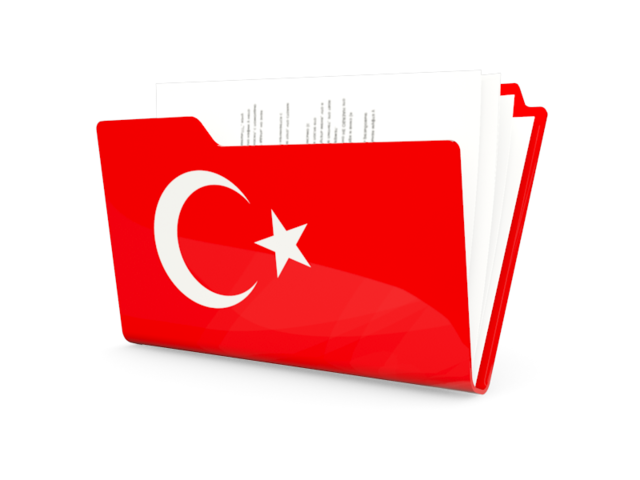Turkey Flag Icon Vector image #20395