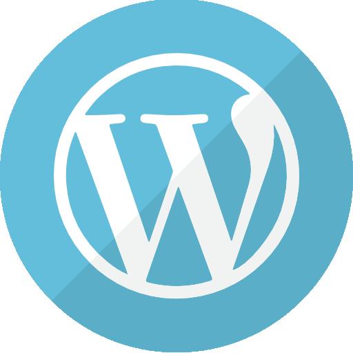 Turquoise logo wordpress cms png