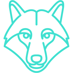 turquoise wolf icon