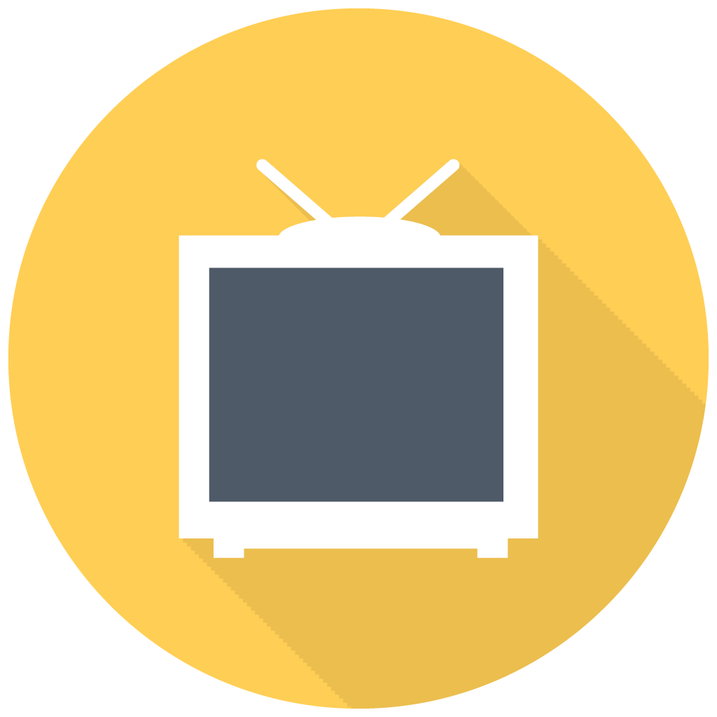 Tv Flat Icon Png image #40280