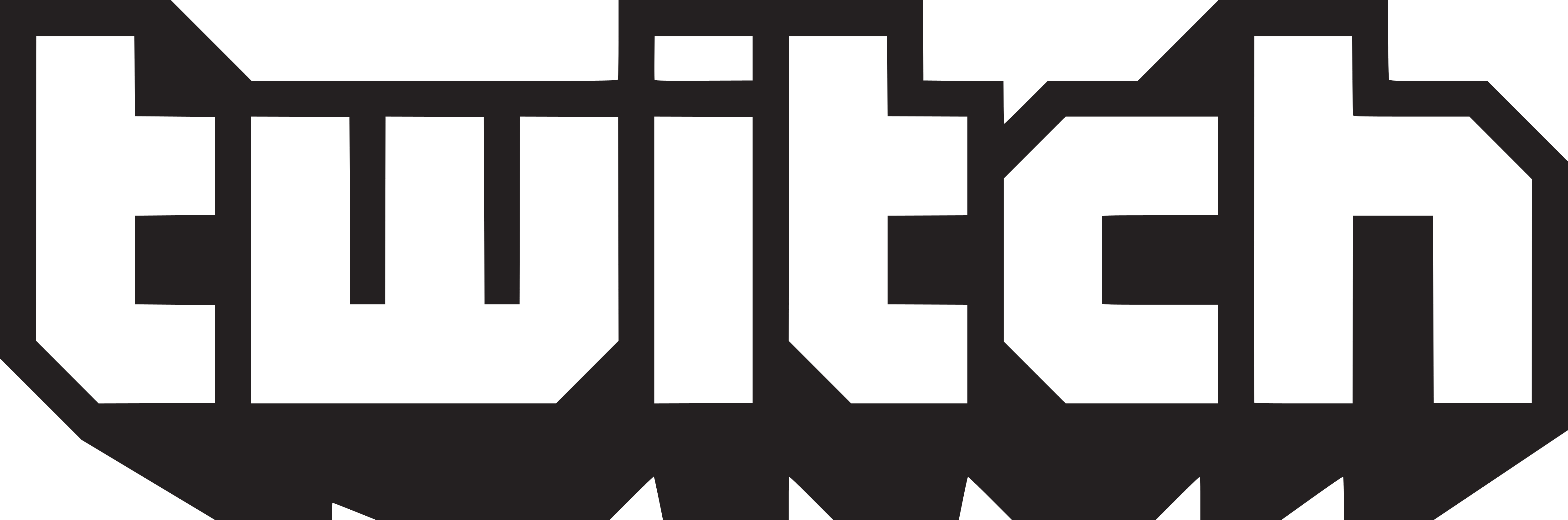 Twitch Icon Logo, Twitch Black PNG Symbol