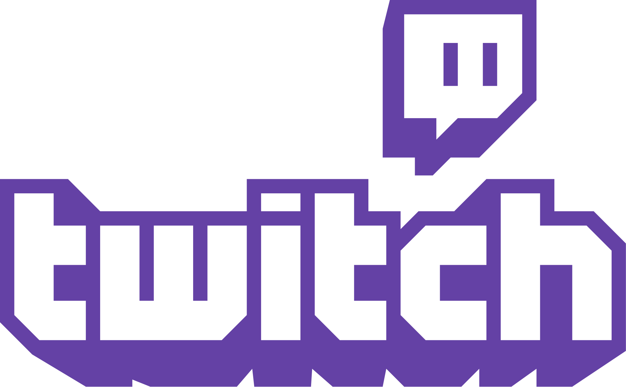 Twitch text Logos Vector Png