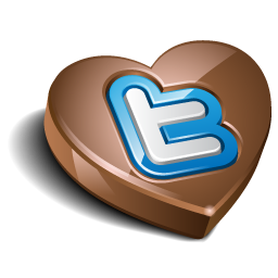 Twitter Chocolate Icon image #36421