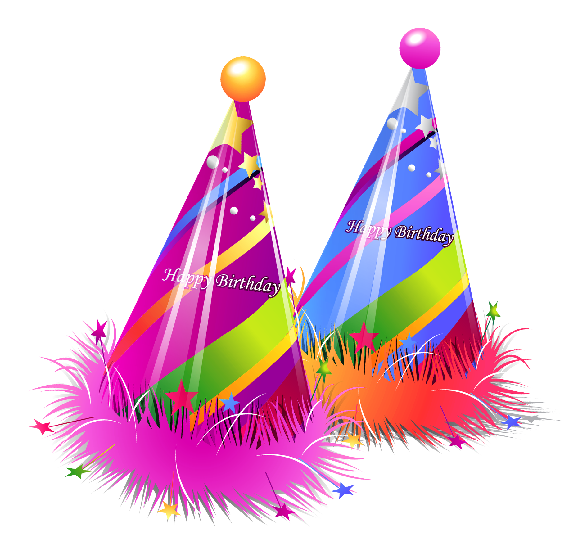 Two Birthday Hat PNG Transparent Images
