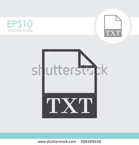 TXT File Icon. Vector.   Stock Vector image #1206