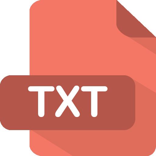 Txt Icon | Flat File Type Iconset | PelFusion
