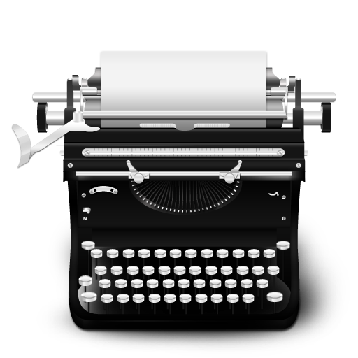 typewriter vintage icon png