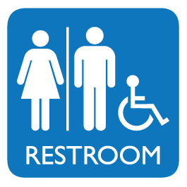 Unisex Restroom Sign Decal image #42384