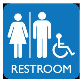 Unisex Restroom Sign Decal image #42384